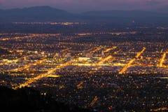 Vista aérea de la ciudad de Christchurch, Nueva Zelanda fotos de archivo libres de regalías