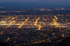 Vista aérea de la ciudad de Christchurch, Nueva Zelanda imágenes de archivo libres de regalías