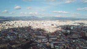 Vista aérea de la ciudad con el puerto existencias Palma de Mallorca Majorca, opinión aérea de España metrajes
