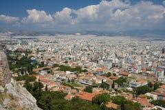 Vista aérea de la ciudad de Atenas Fotografía de archivo libre de regalías