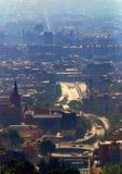 Vista aérea de la ciudad de Barcelona Imagen de archivo libre de regalías