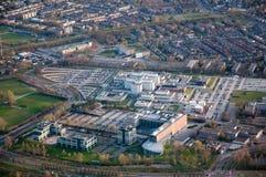Vista aérea de la ciudad de Breda (Países Bajos) imagenes de archivo