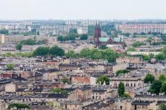 Vista aérea de la ciudad de Lodz (dź) del ³ del  à de Å, Polonia foto de archivo