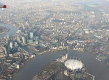 Vista aérea de la ciudad de Londres Imagen de archivo libre de regalías