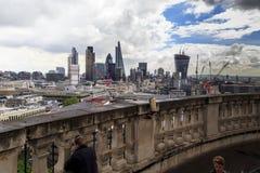 Vista aérea de la ciudad de Londres Fotos de archivo