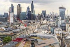 Vista aérea de la ciudad de Londres Foto de archivo
