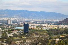 Vista aérea de la ciudad de Los Ángeles del parque Mountain View del barranco de Runyon Fotografía de archivo