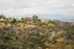 Vista aérea de la ciudad de Los Ángeles del parque Mountain View del barranco de Runyon Fotografía de archivo libre de regalías