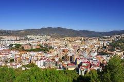 Vista aérea de la ciudad de Málaga Fotografía de archivo