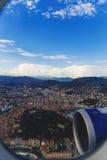 Vista aérea de la ciudad de Niza, de Francia y del coastlin circundante Imagenes de archivo