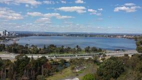 Vista aérea de la ciudad de Perth Fotografía de archivo libre de regalías