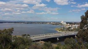 Vista aérea de la ciudad de Perth Imágenes de archivo libres de regalías