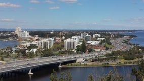 Vista aérea de la ciudad de Perth Fotografía de archivo