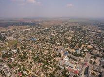 Vista aérea de la ciudad de Saki crimea Fotos de archivo libres de regalías
