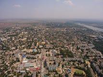 Vista aérea de la ciudad de Saki Península de Crimea Imagen de archivo