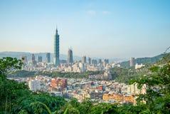 Vista aérea de la ciudad de Taipei Imágenes de archivo libres de regalías