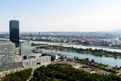 Vista aérea de la ciudad de Viena fotos de archivo libres de regalías