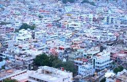 Vista aérea de la ciudad de Vijayawada Fotografía de archivo libre de regalías