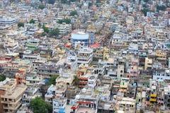 Vista aérea de la ciudad de Vijayawada Imágenes de archivo libres de regalías