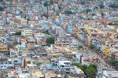 Vista aérea de la ciudad de Vijayawada en la India Fotos de archivo libres de regalías