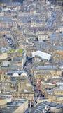 Vista aérea de la ciudad del baño en Somerset England Fotografía de archivo