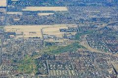 Vista aérea de la ciudad del Palm Springs Imágenes de archivo libres de regalías
