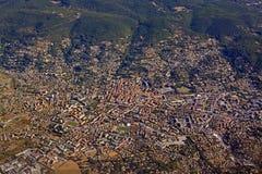 Vista aérea de la ciudad de Draguignan en Provence meridional, Francia Fotografía de archivo libre de regalías