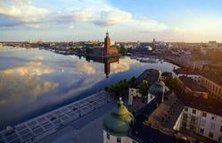 Vista aérea de la ciudad de Estocolmo Imágenes de archivo libres de regalías