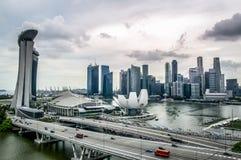 Vista aérea de la ciudad hermosa de Singapur Fotografía de archivo