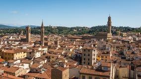 Vista aérea de la ciudad histórica Florencia fotografía de archivo