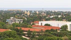 Vista aérea de la ciudad de Jaffna - Sri Lanka imagen de archivo libre de regalías