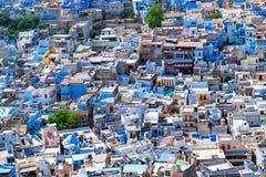 Vista aérea de la ciudad de Jodhpur, Rajasthán, la India imagen de archivo libre de regalías