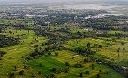 Vista aérea de la ciudad de Khon Kaen, Tailandia fotos de archivo