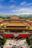 Vista aérea de la ciudad Prohibida Pekín Fotografía de archivo