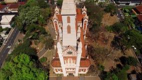 Vista aérea de la ciudad de Ribeirao Preto en Sao Paulo, el Brasil metrajes