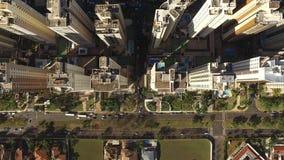 Vista aérea de la ciudad de Ribeirao Preto en Sao Paulo, el Brasil En agosto de 2017 Avenida de Fiusa almacen de metraje de vídeo