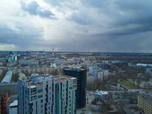 Vista aérea de la ciudad Tallinn Estonia Imagen de archivo libre de regalías