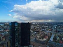 Vista aérea de la ciudad Tallinn Estonia Foto de archivo libre de regalías