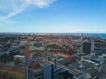 Vista aérea de la ciudad Tallinn Estonia Fotografía de archivo