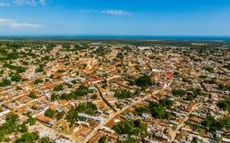 Vista aérea de la ciudad de Trinidad, Cuba imagen de archivo