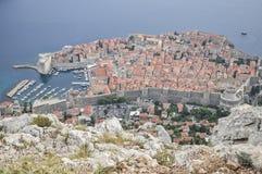 Vista aérea de la ciudad vieja de Dubrovnik en Croacia Foto de archivo