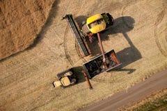 Vista aérea de la cosecha Imagen de archivo libre de regalías