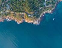 Vista aérea de la costa costa Foto de archivo