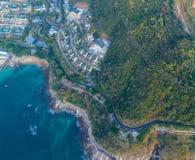 Vista aérea de la costa costa Imagen de archivo