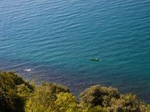 Vista aérea de la costa adriática cerca de Trieste Imagen de archivo