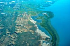 Vista aérea de la costa costa de Australia occidental imagen de archivo libre de regalías