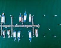 Vista aérea de la estación del infante de marina de los yates Imagenes de archivo