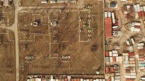 Vista aérea de la estación de la energía eléctrica, cantidad aérea 4K metrajes