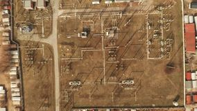 Vista aérea de la estación de la energía eléctrica, cantidad aérea 4K almacen de metraje de vídeo