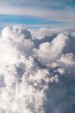 Vista aérea de la formación hermosa de las nubes imágenes de archivo libres de regalías